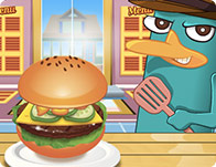 Perry Amerikan Hamburgeri Pişirme - Perry Cooking American Hamburger oyna