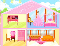 Pink Dollhouse Decoration