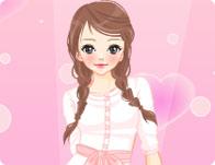 Pink Glitter Doll