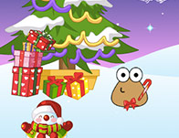 Pou Decorated Christmas