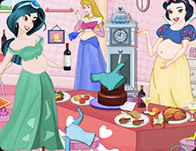 Pregnant Princess Party Clean Up