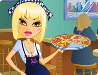 Pretty Pizzeria Waitress