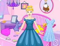 Princess Cinderella Messy Room Girl Games