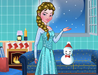Princess Elsa Xmas Room Decor