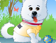 Puff The American Eskimo tile