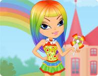 Rainbow Rihanna tile