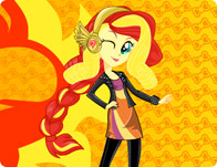Rainbow Rocks Sunset Shimmer Dress Up