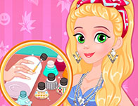 Nail games for girls girl games rapunzel matching nails and dress prinsesfo Gallery