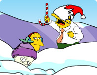 Simpsons Xmas Snow Fight