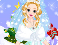 Snow White Christmas Bride