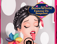 Snow White Famous on Snapchat