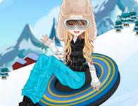 Snowtubing Girl