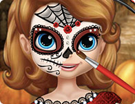sofia halloween face art girl games