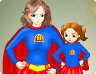 Supermom and Kid Dressup
