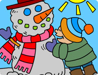 Winter Holiday Coloring